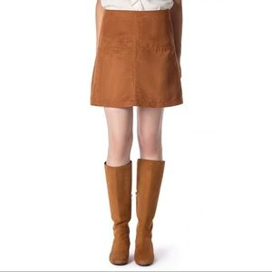 Sanctuary suede easy mod skirt Size M NWT